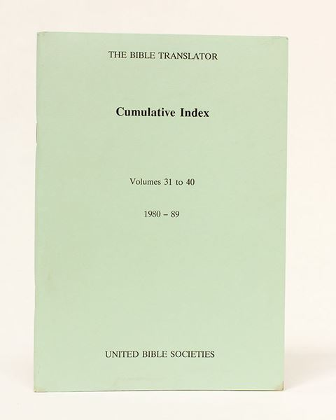 Picture of TBT - Cumulative Index (31-40) 0260-0943