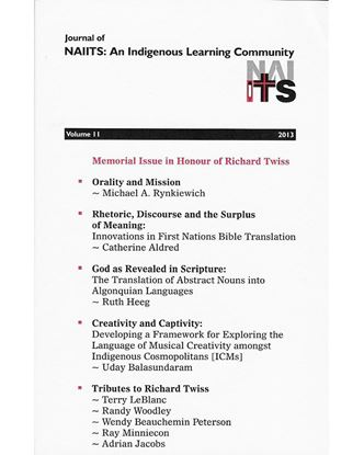 Picture of Journal of NAIITS Volume 11 - 2013