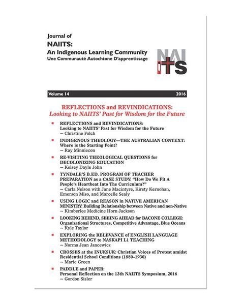 Picture of Journal of NAIITS Volume 14 - 2016