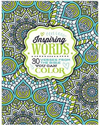Picture of Inspiring Words Coloring Book: 30 Verses from the Bible You can Color