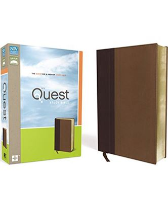 Picture of NIV Quest Study Bible Burgundy/Tan