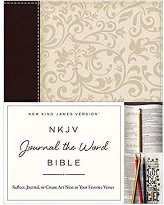 Picture of NKJV Journal the Word Bible (Brown/Cream)